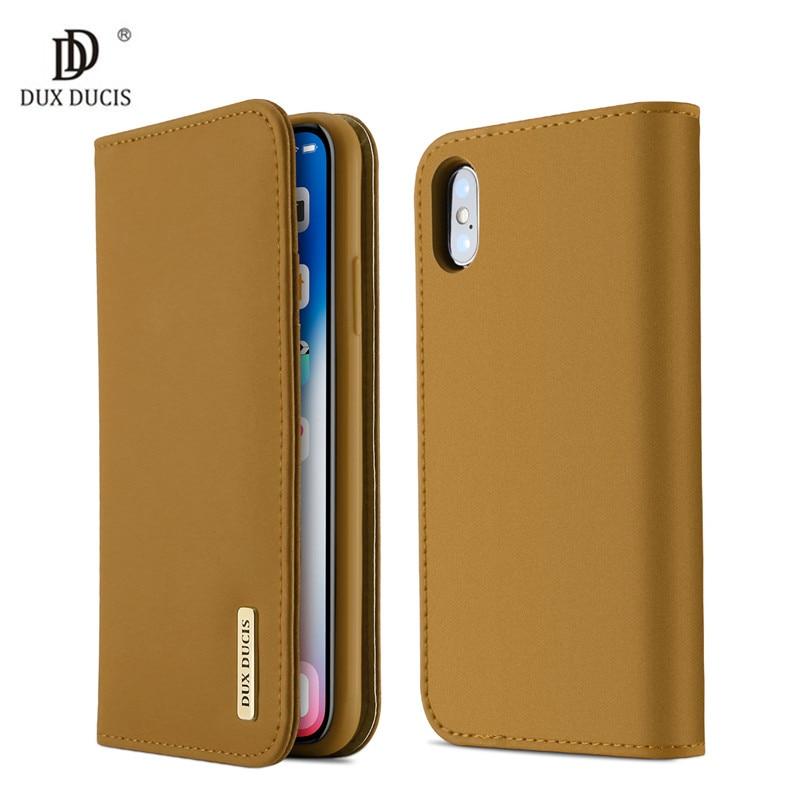 Galleria fotografica 100% Genuine Luxury Flip PU Leather Silicon Cover for iPhoneX 10 Case 5.8