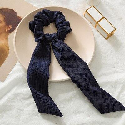 Модный летний шарф «конский хвост», эластичная лента для волос для женщин, бантики для волос, резинки для волос, резинки для волос с цветочным принтом, ленты для волос - Цвет: 07