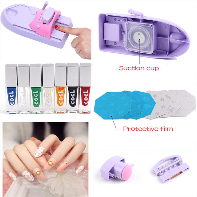 Nail Decoration Colorful Nail Art Printer