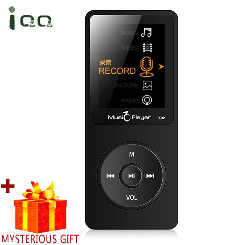 Mp3-player Motiviert Iqq X02 Verlustfreie Digitale Hifi Flac Sport Audio Mp 3 Bildschirm Musik Mp3 Player Mit Kopfhörer Radio Fm 8 Gb Stimme Recorder Lautsprecher Klar Und Unverwechselbar Unterhaltungselektronik