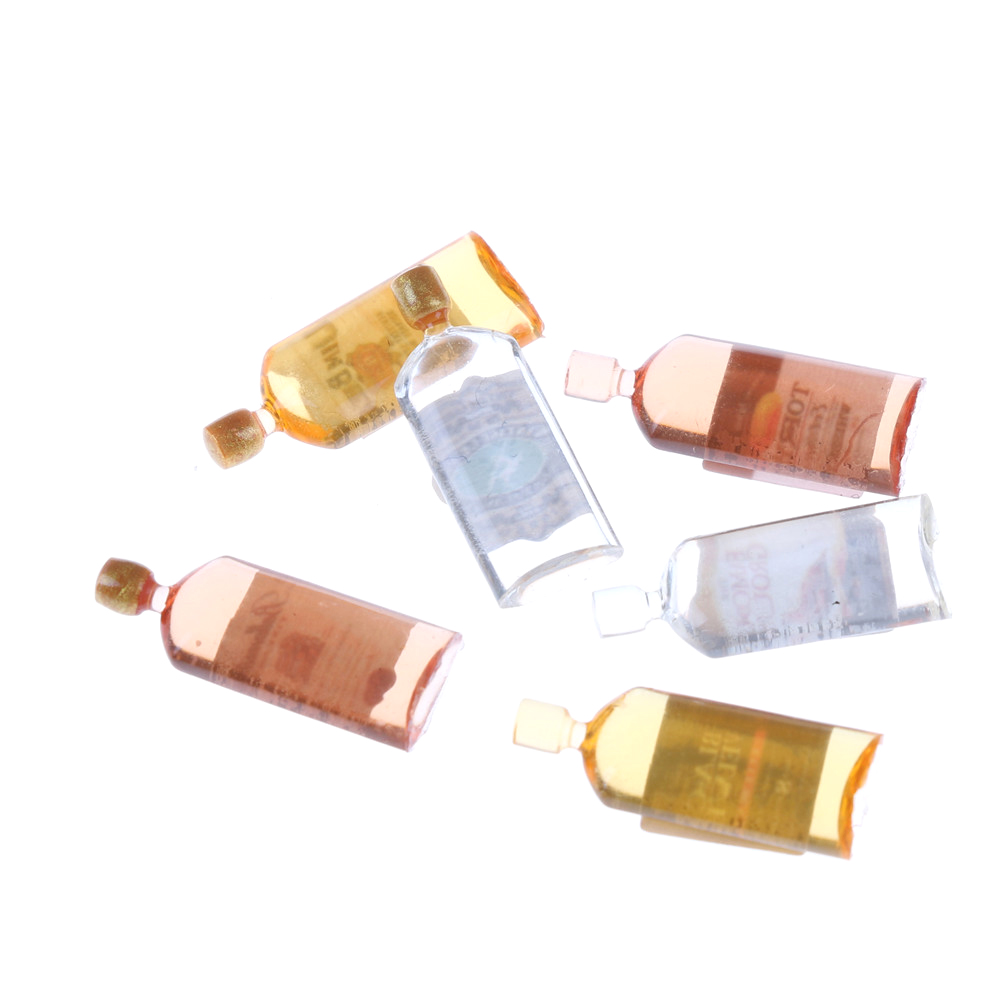 6pcs 1//12 dollhouse miniature accessories mini wine bottle simulation model/'ToES