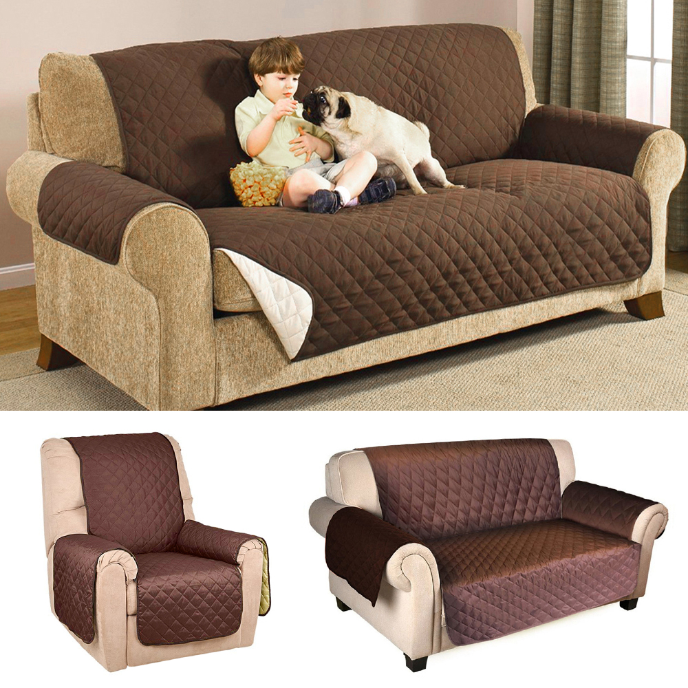 Sofa Cover Protector for Kids Dog/Cat Pets Reversible