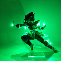 Dragon Ball Figure Super Broly DIY LED Light PVC Action Figures Dragon Ball Super Broli Figurine DBZ Collectible Model Toys