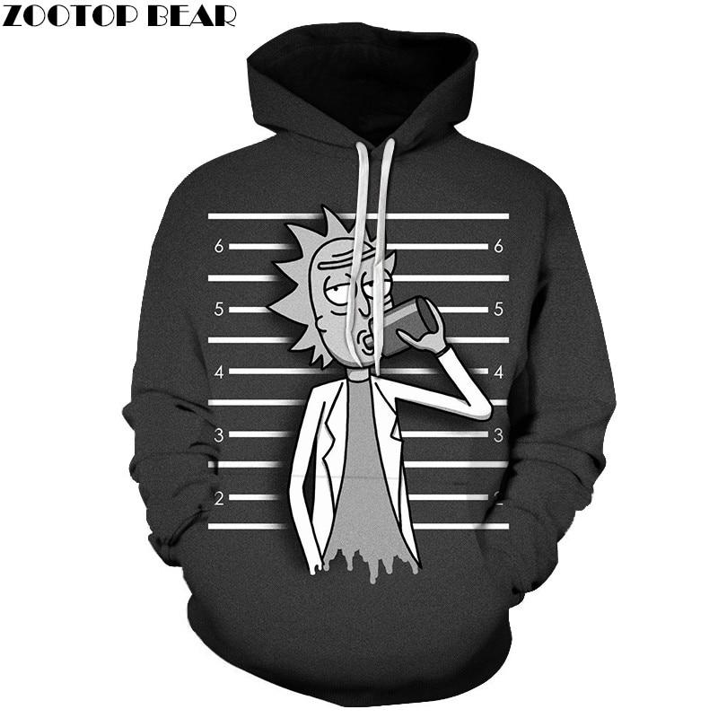Ricky Drinking 3D Printed Hoody Funny Sweatshirts Men Tracksuit Hoodies Pullover Streetwear Cloth Unisex DropShip ZOOTOPBEAR New