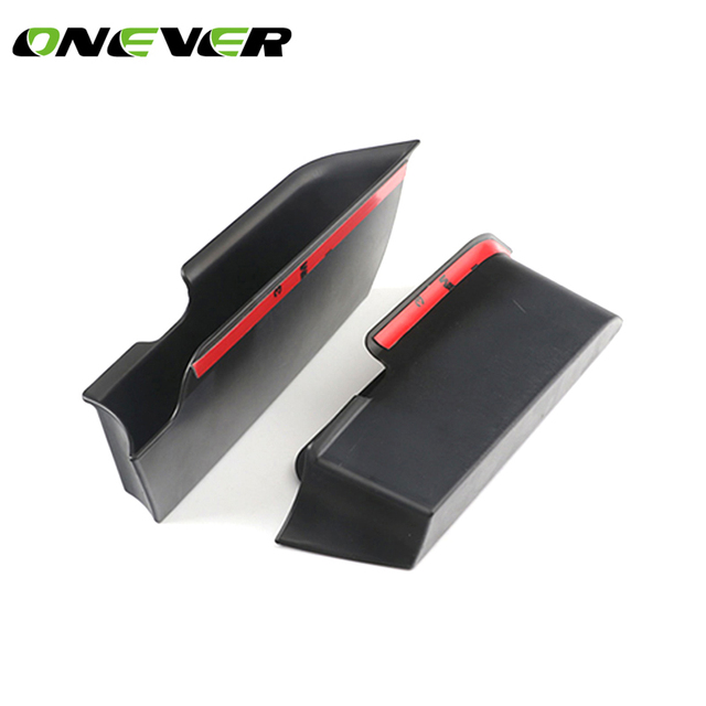 2PCS Car Inner Side Front Door Handle Armrests Storage Box Tray Holder For Mini Cooper F56 Car Styling Accessories