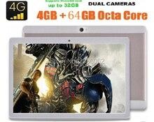 DHL Libre 3G 4G LTE Teléfono call tablet PC de 10 pulgadas Android 6.0 IPS Octa core 1280×800 MP de Doble tarjeta SIM FM bluetooth GPS tabletas