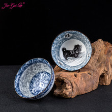 Jia-gui luo 60ml Chinese Traditional Ceramic Underglaze Blue and White Porcelain Tea Set Kung Fu  Cup luo q blue 40