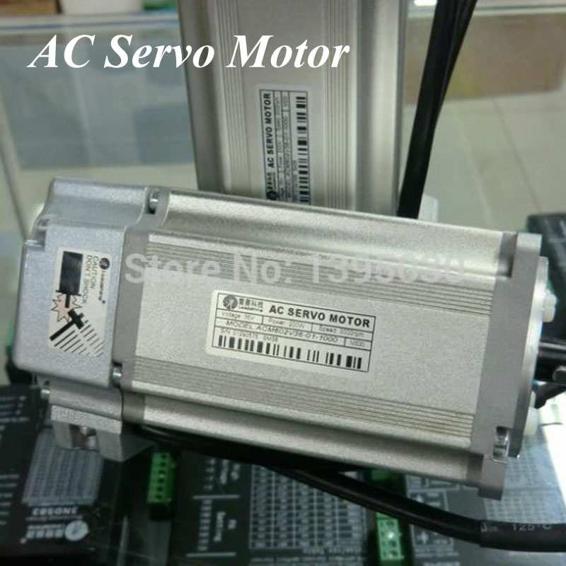 200W Servo Motor 36-80VDC 8.4A-25A for Servo Drive ACS806 Brushless AC Servo Motor ACM602V36-01-2500 dcs810 leadshine digital dc brush servo drive servo amplifier servo motor controller up to 80vdc 20a new original