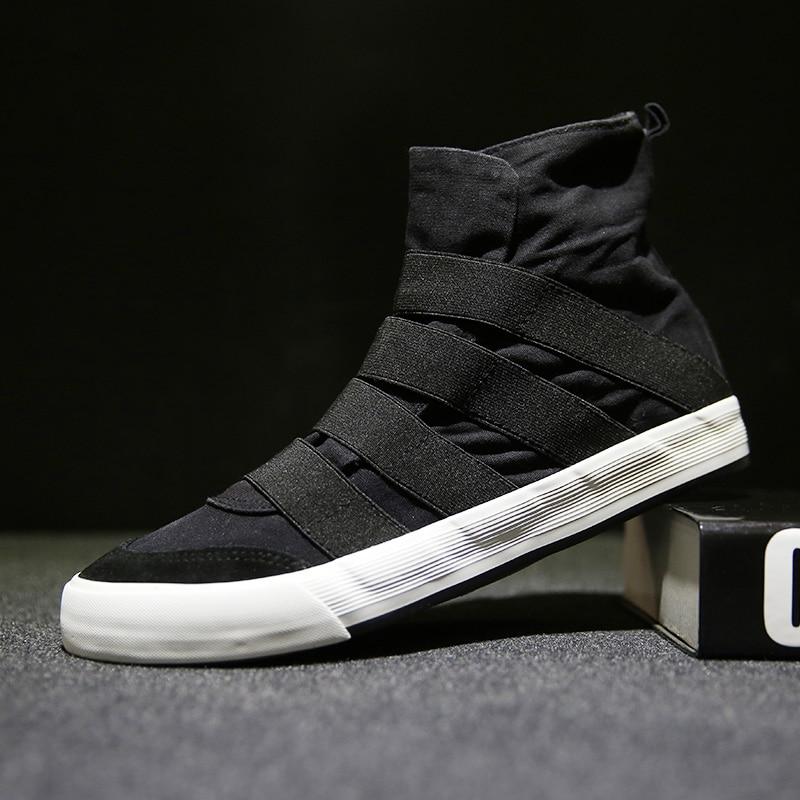 Moški ravne priložnostne obutev visoki vrh moški oblikovalski - Moški čevlji