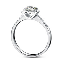 Women Engagement Ring Solid 925 Sterling Silver Jewelry Cubic Zirconia Brilliant Round Marriage Ring Romantic Gift for Wife