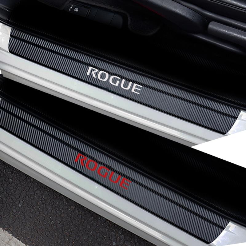 Виниловая наклейка из углеродного волокна, защитная Накладка на порог автомобиля для NISSAN ROGUE, автомобильные аксессуары