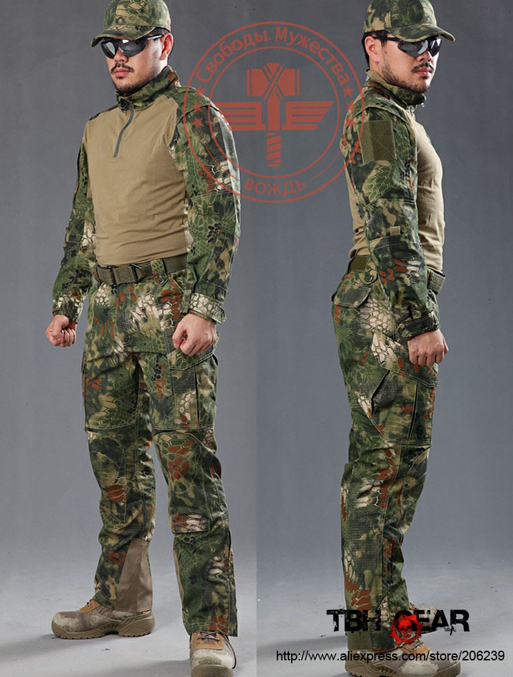 Warchief Rattlesnake Pro. BDU combat shirt & tactical pants in jungle camouflage hunting clothes(SKU12050308) цена 2017