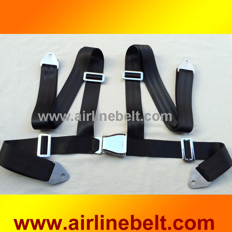 Anti Rust Anti Corrosion Full Stainless Steel aircraft buckle 4 Point racing seat belt sea marine