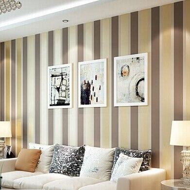 Beibehang moderne mode luxe rayures verticales fonds d'écran paillettes papier peint rouleau décoration de la maison argent café gris doré