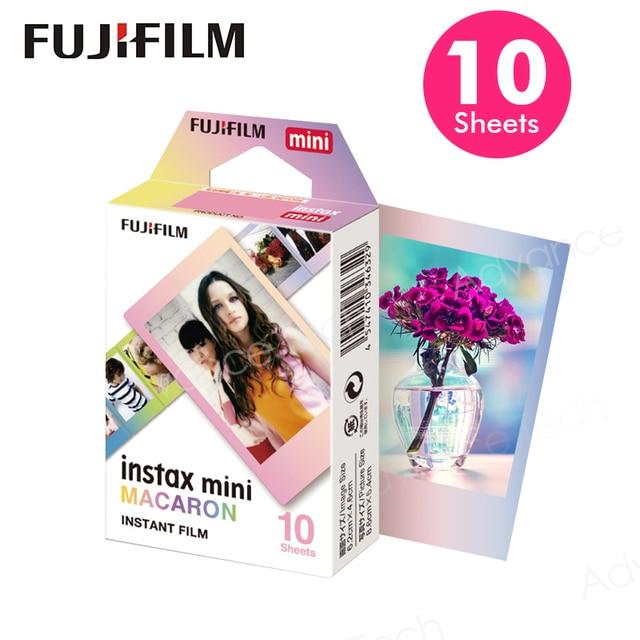 Oryginalny Fujifilm Fuji Instax Mini 8 makaronik Film 10 do 50 arkuszy dla 70 50 s 7s 90 25 udostępnij SP 1 aparaty błyskawiczne nowy przyjazd