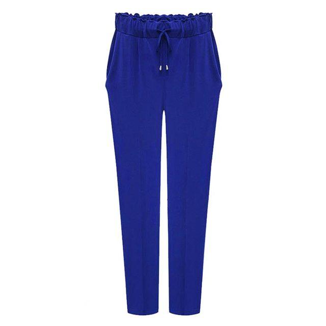 Women Harem Pants 2017 Plus size 6XL Elastic Waist Leisure Ankle Length Solid Color Trousers Kpop Pants Female 3 Color Hot Sale