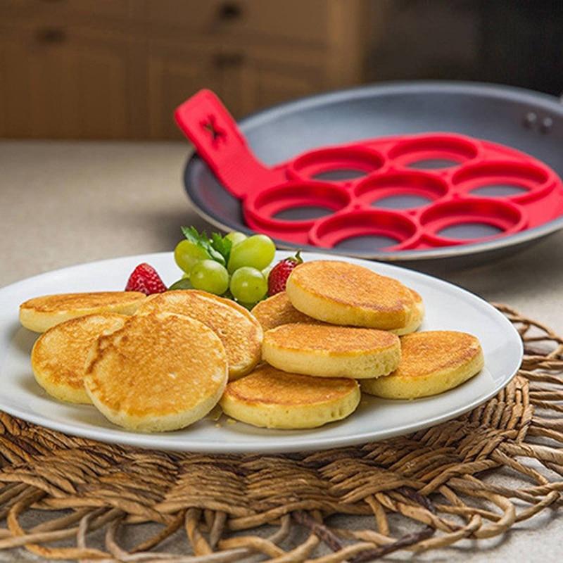Perfect Pancake maker Ei Käse Brot Backformen 7 Cavity Antihaft - Küche, Essen und Bar - Foto 6