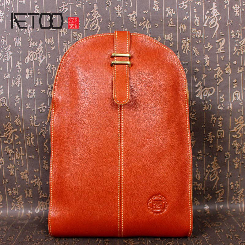 AETOO Leather retro ladies shoulder bag leather casual Backpack bag
