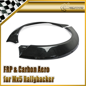 Car-styling For Mazda Rallybacker NC FRP Fiber Glass Rear Wheel Arch(pair of rear arches only) In Stock