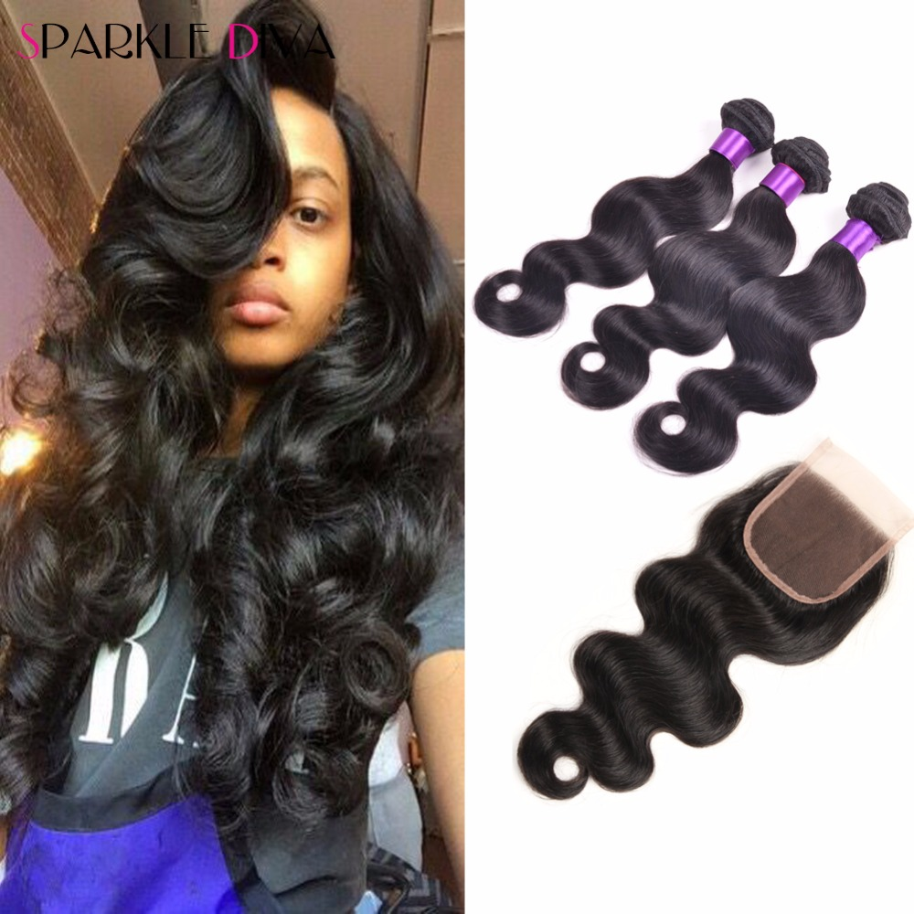 8a Brazilian Virgin Hair With Closure Body Wave Uxcell Waved Plastic Handle Pcb Circuit Board Anti Static Brush Black Human Ms Lula And Bundle