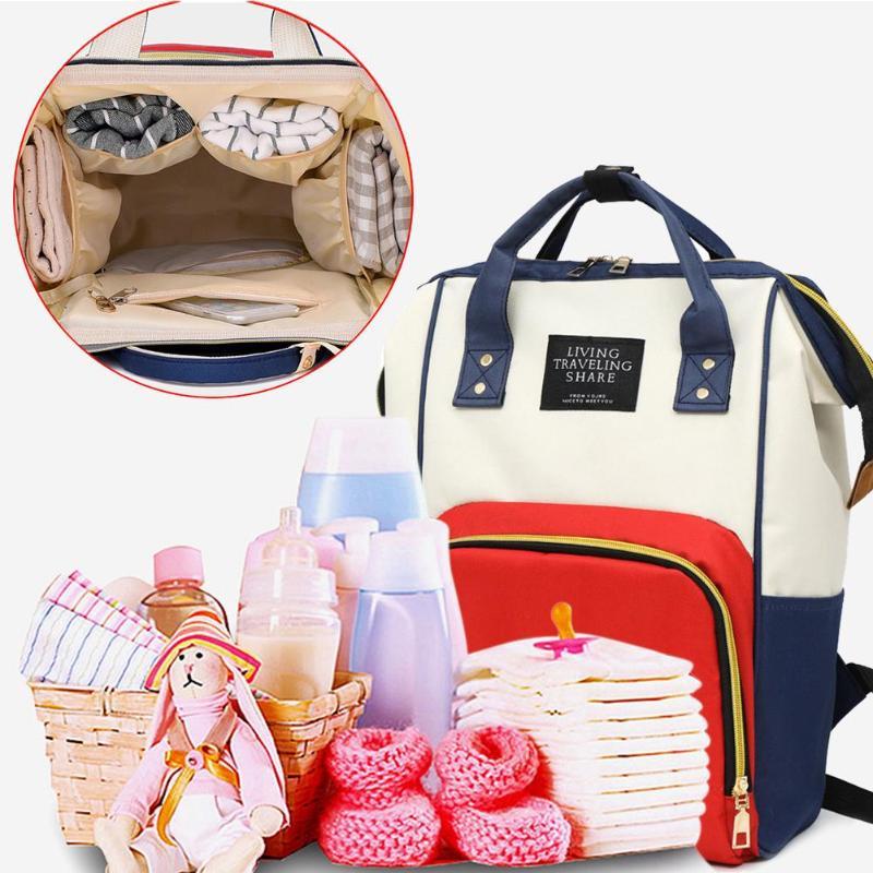 Neue Große Kapazität Mumie Mutterschaft Windel Beutel Windel Baby Tasche Multifunktionale Desinger Pflege Tasche Reise Rucksack Baby Pflege