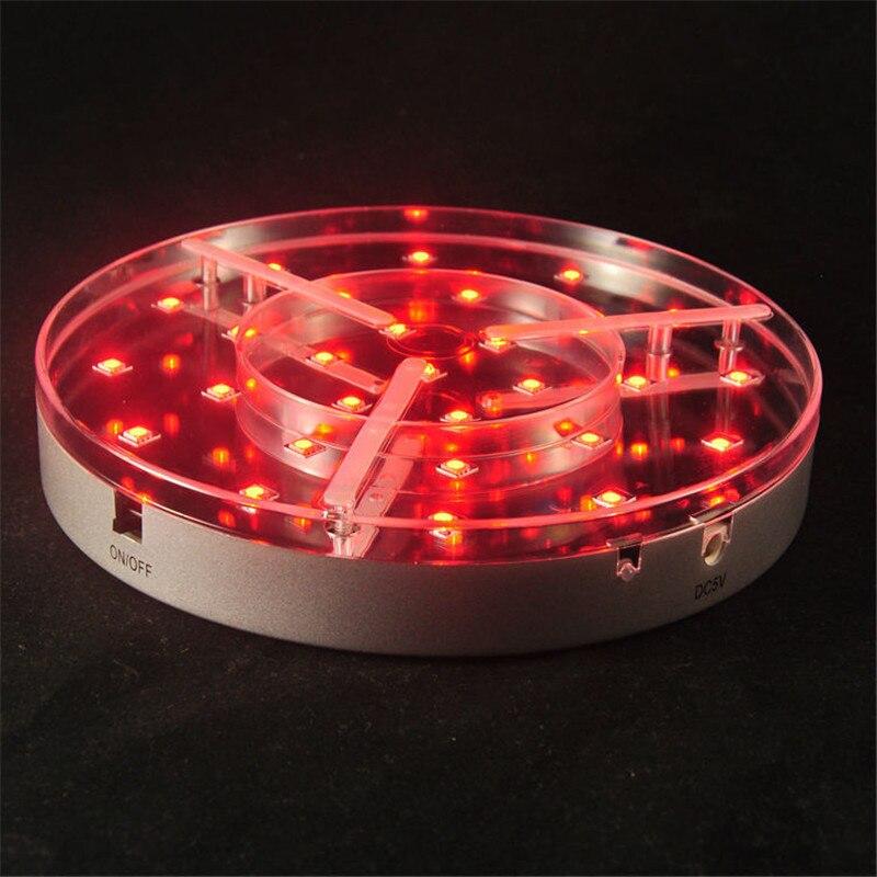 Gehoorzaam (4 Stuks/partij) Mirrored Center Base 8 Inch Led Onder Tafel Licht Met Oplaadbare Batterij Operated + 15 Toetsen Remote Controlled Bevordering Van Gezondheid En Genezen Van Ziekten