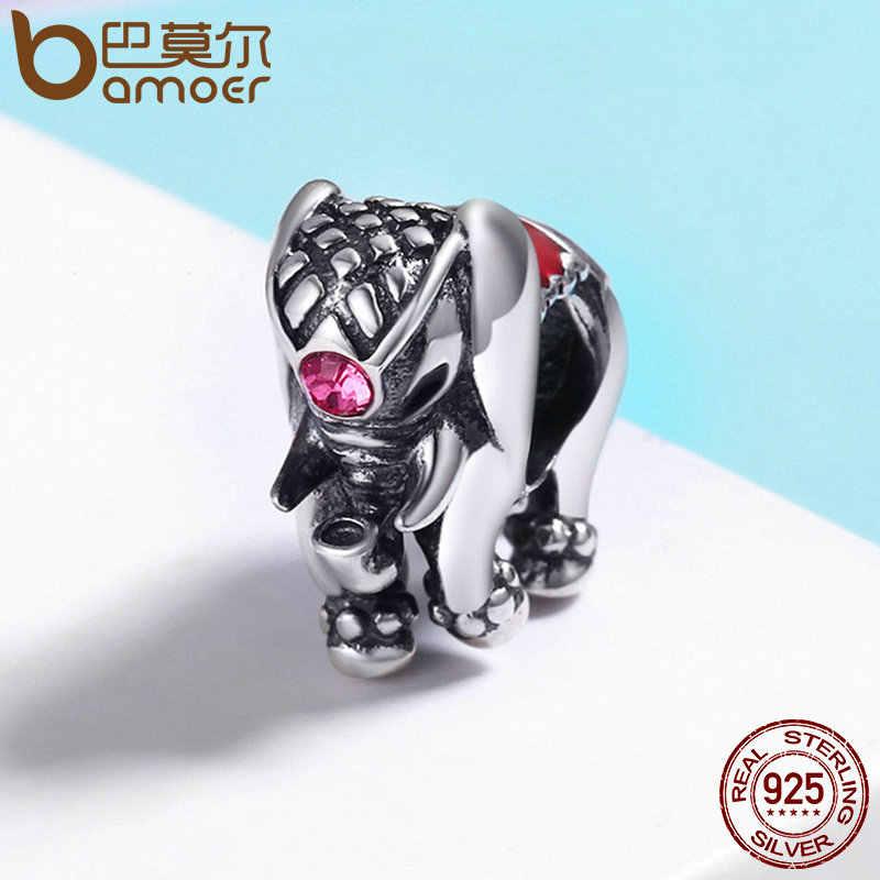 cbbfc548e ... BAMOER Flying Dumbo Beads 100% 925 Sterling Silver Thailand Lucky Elephant  Charms fit Women Bracelets ...