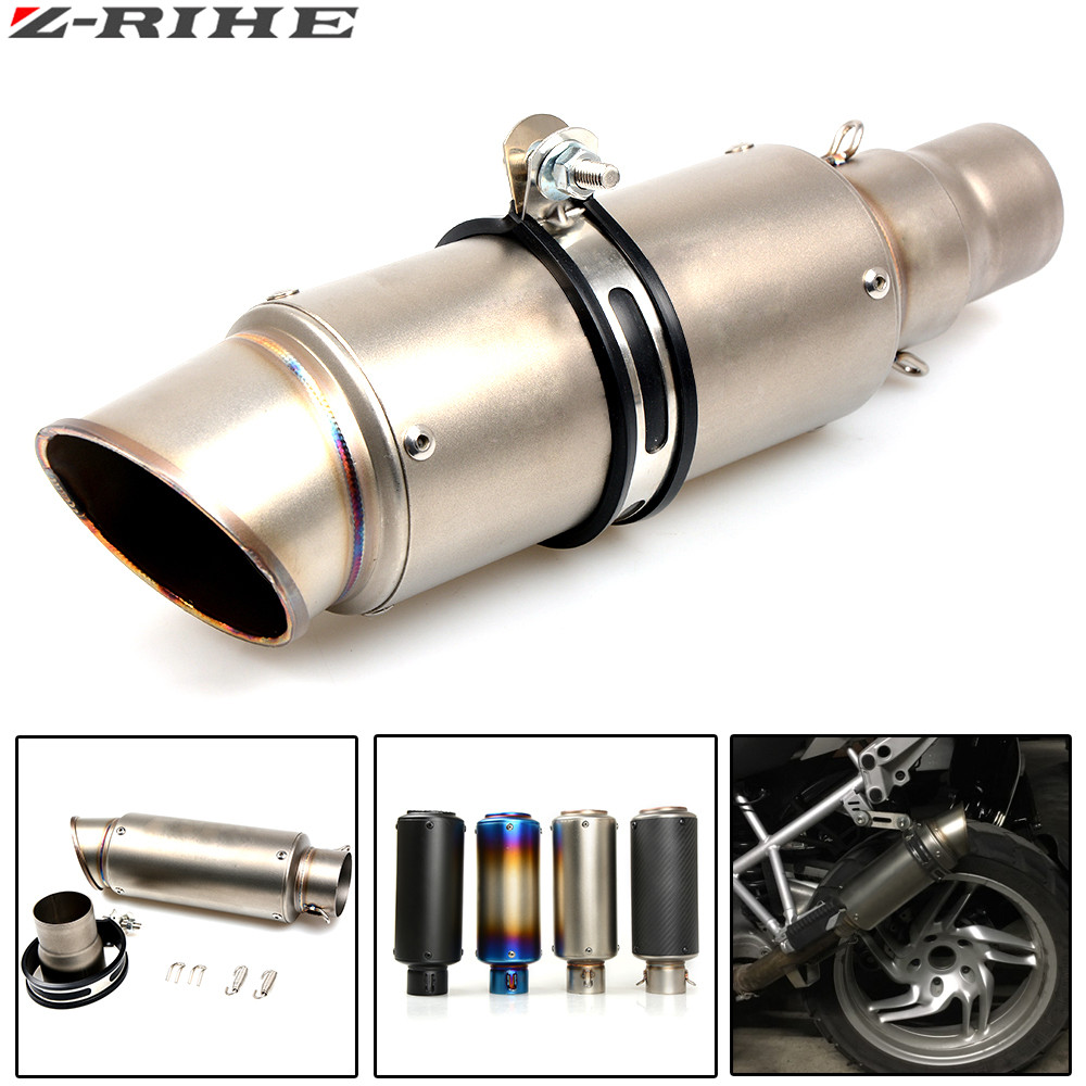 motorcycle modified muffler carbon fiber exhaust pipe For SUZUKI GSF Bandit 650 650S 1000 1200 1250 SV650 GSXR ninja300 MT-07 R1 цена 2017