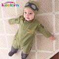 Keelorn NOVO Macacão de Bebê Moda Outono Conjuntos de Roupas Meninos de Manga Comprida Macacão de Bebê + Chapéu 2 pcs Roupas Recém-nascidos Para meninos Inverno