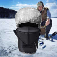 Winter Trapper Fur Hat, Men Women Ushanka Russian Bomber Trooper Leather Cap with Face Cover