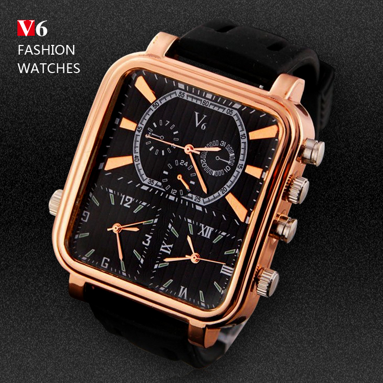 2016 Men's Sports Watches Men Luxury Brand Multiple Time Zone Military Watches Male Business Square Clock Analog Quartz Watch weide 2017 new quartz casual watch army military multiple time zone sports watch waterproof back alarm men watches alarm clock