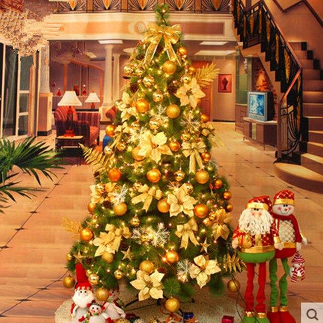 new year christmas tree 21 m 210cm large christmas tree decorations christmas tree pine needles - Large Christmas Tree Decorations