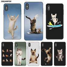 N476 Yoga Cats And Dogs Black Silicone Case Cover For Apple iPhone 11 Pro XR XS Max X 8 7 6 6S Plus 5 5S SE