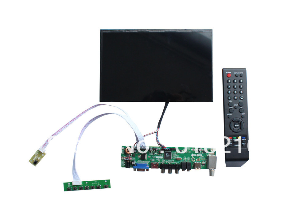 HDMI+AV+VGA+Audio LCD driver board  support N070ICG-LD1  7 inch LCD panel with  1280*800 hdmi vga 2av lcd driver board vs ty2662 v1 71280 800 n070icg ld1 ld4 touch panel