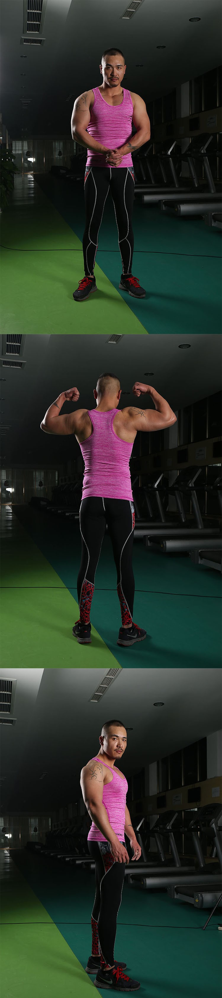 Gym Tank Tops Men Undershirt Sports Wear GymShark Singlet Bodybuilding Basketball Fitness Training Tight Vest Sleeveless Shirt (3)
