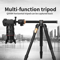 Q999H Camera accessories Tripod stand 61 Inch Portable Compact Travel Horizontal System Tripod for The Camera Canon Nikon Sony
