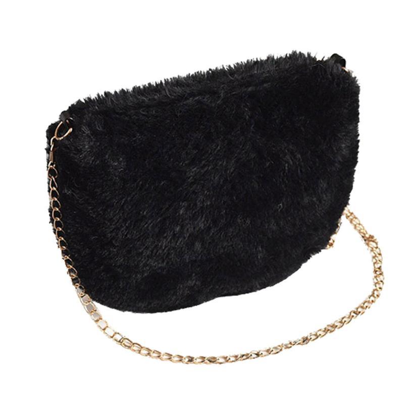 Fashion Able Bag Handbag Small Messenger Shoulder Phone Coin Plush Bags Fashion Lady Small Purse 2017 New Women Purses Wallet