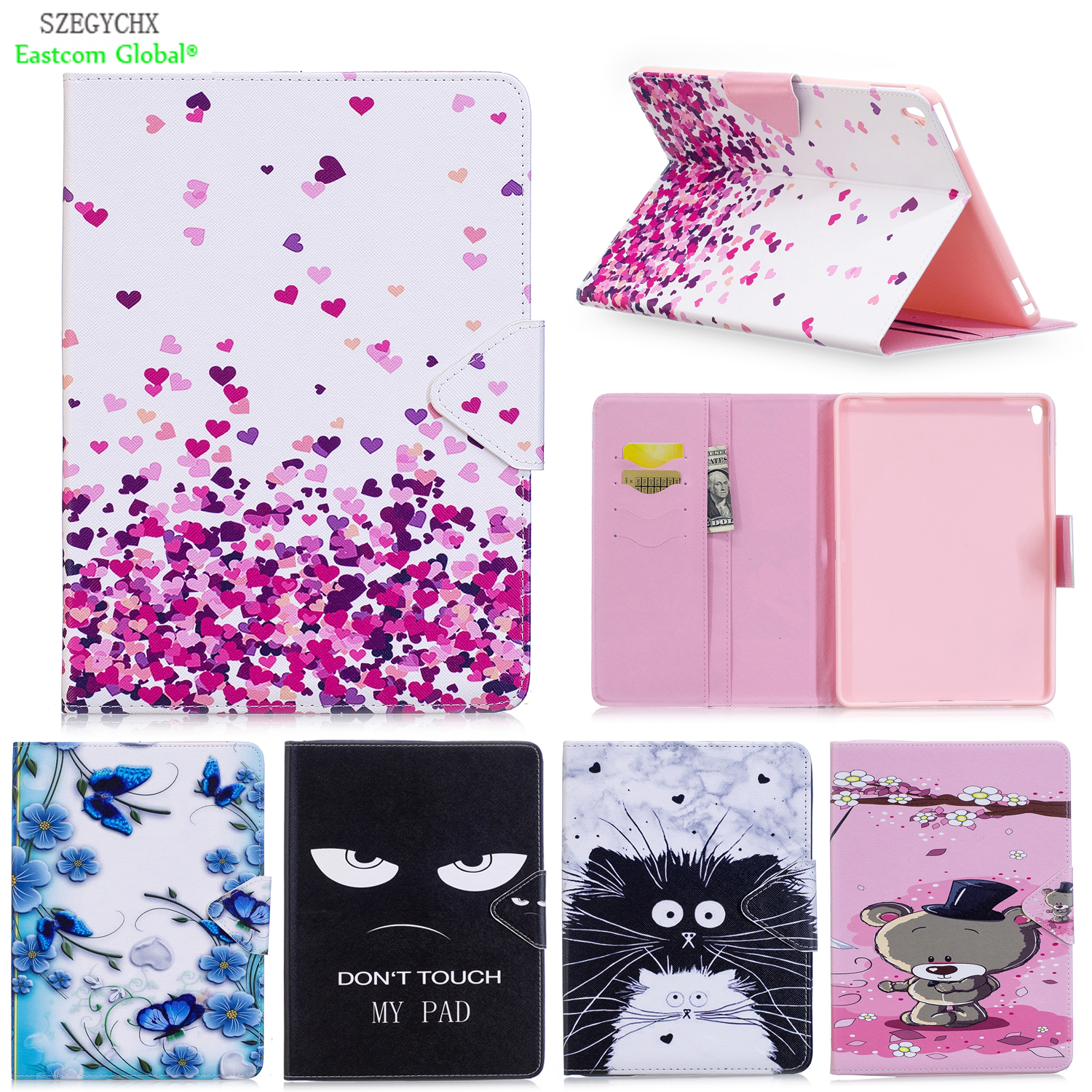 Cover For iPad Pro 9.7 inch,SZEGYCHX PU Leather Smart Stand Shell Tablet Case For ipad Pro 9.7