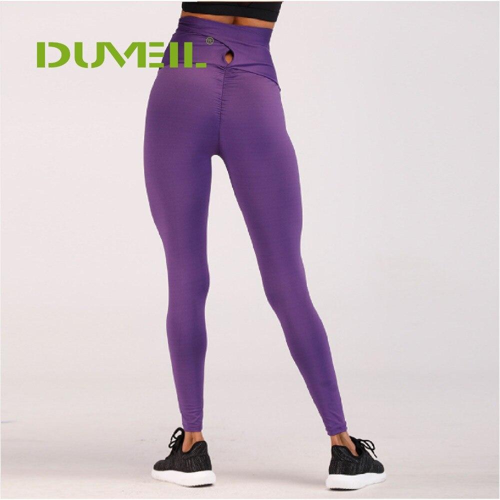DUVEIL Fashion Bow Tied Purple Buttocks Tights Sportswear Woman Gym Yoga Pants Sport Leggings Fitness Compression Female Legins tights