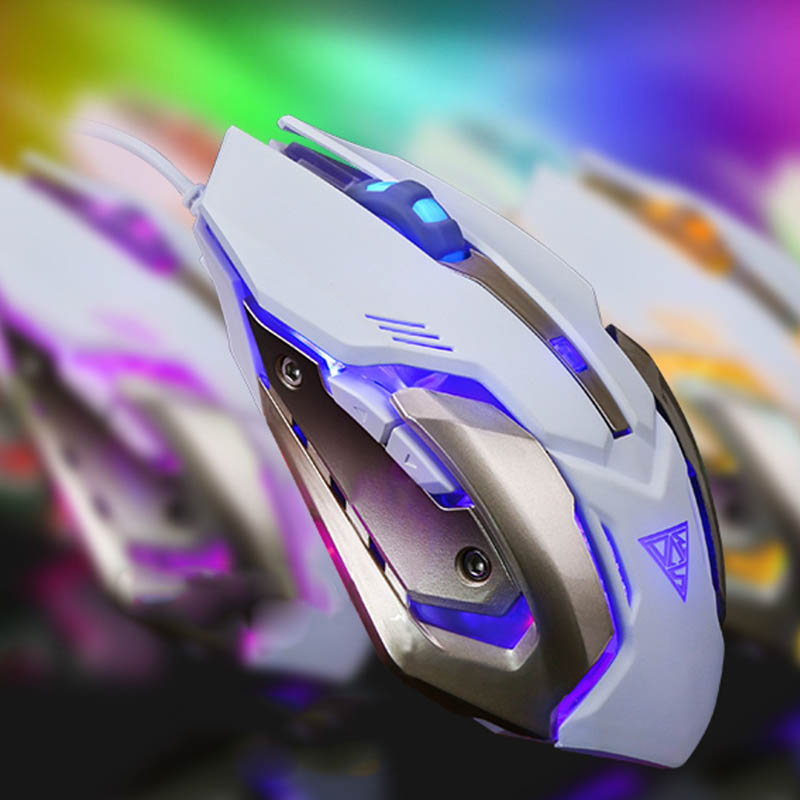 Mechanical Gaming Mouse Mice 6 Button 4 Modes DPI USB Interface Lighting For Computer WIF66