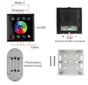 Image 5 - 2 Finger touch fernbedienung RGB LED Streifen 220 V 220 V wasserdicht LED Streifen Licht 60 leds/m 5050 band ledstrip streifen band IL