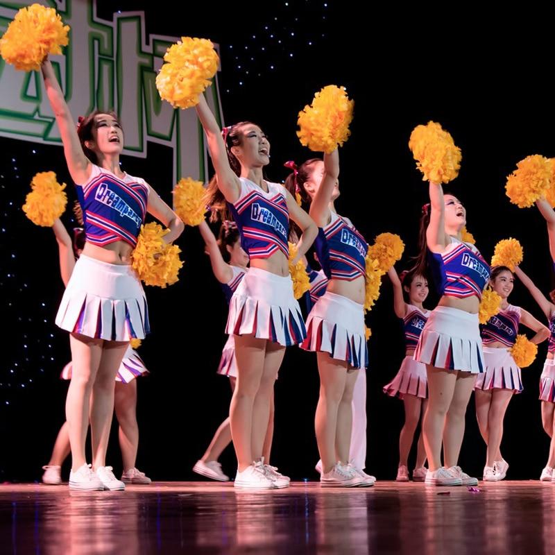 Juichende benodigdheden Cheerleader pom poms benodigdheden PVC pompons Kleur kan vrije combinatie Hoge kwaliteit 32CM game pompoms
