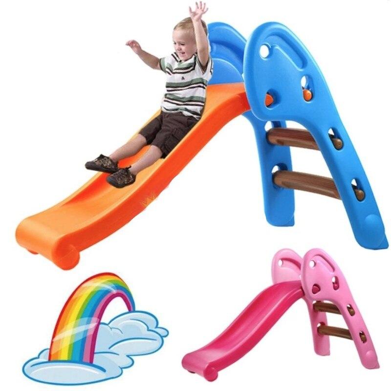 Mini toboggan enfants pliable pour intérieur et extérieur-2 jeux de couleurs pour enfants garçons filles escalade ABS