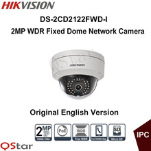 Hikvision Original English Version DS-2CD2122FWD-I 2MP WDR Fixed Dome Network Camera IP Camera 1080P POE 30m CCTV Camera