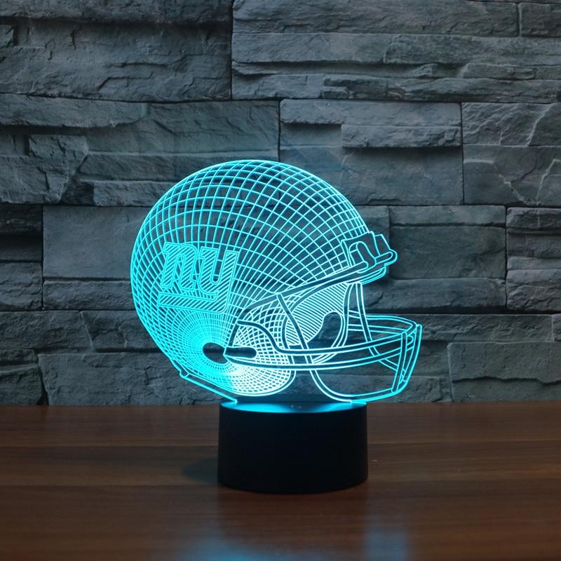 New York Giants fußball tam helm 3D licht 7 farbe ändern