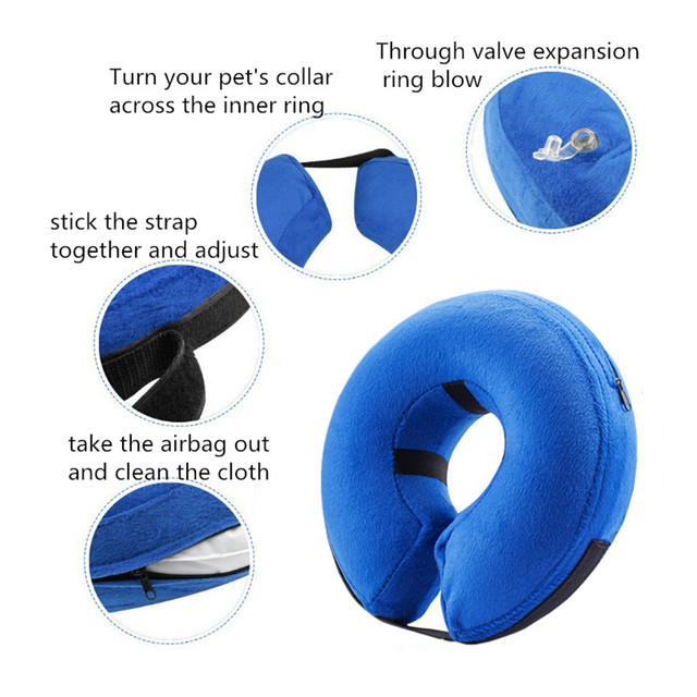 Inflatable Pet Collar and Neck Protector 2