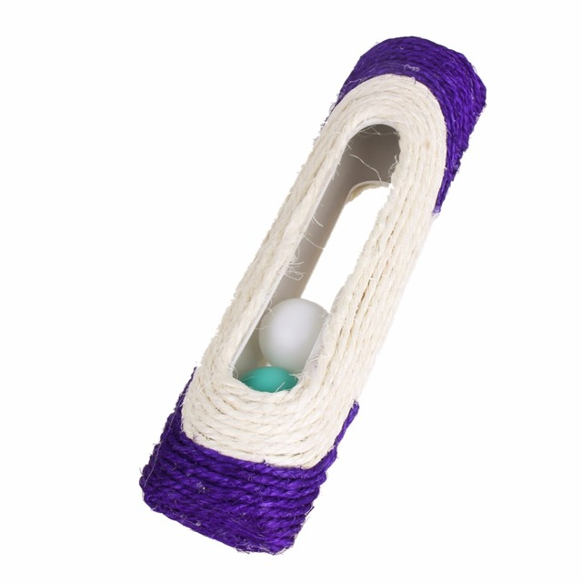 Pet Cat Toy Rolling Sisal Scratching Post With 3 Ball Cat Scratcher Training Fun Toys For Cats Products for Animals Pet Supplies