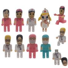 hot deal buy cartoon mini robot doctors nurse usb flash drive dentist pen drive gift cartoon pendrive 4gb/8gb/16gb/32gb/64gb u disk wholesale
