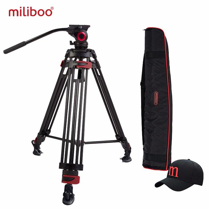 Miliboo MTT603A di Alluminio della Macchina Fotografica Portatile Treppiede per Videocamera Professionale/Video/DSLR Basamento 75 millimetri Ciotola Formato Video Treppiede