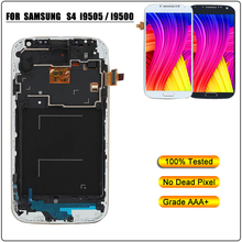 LCD Display for Samsung i9505 i9500 Touch Screen Digitizer Assembly for Samsung Galaxy S4 i9505 i9500 LCD Replacement With Frame все цены